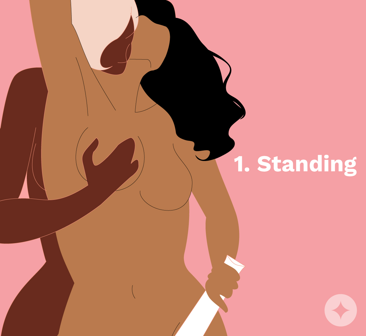 Standing is one of the easiest positions to use sex toys with your partner