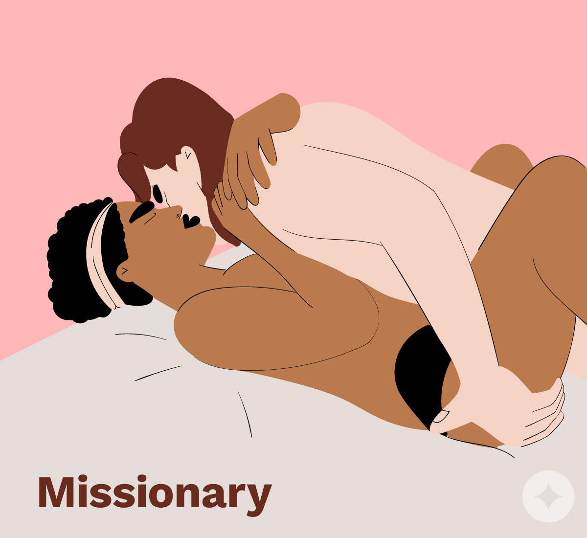Missionary is one of the best positions for make-up sex