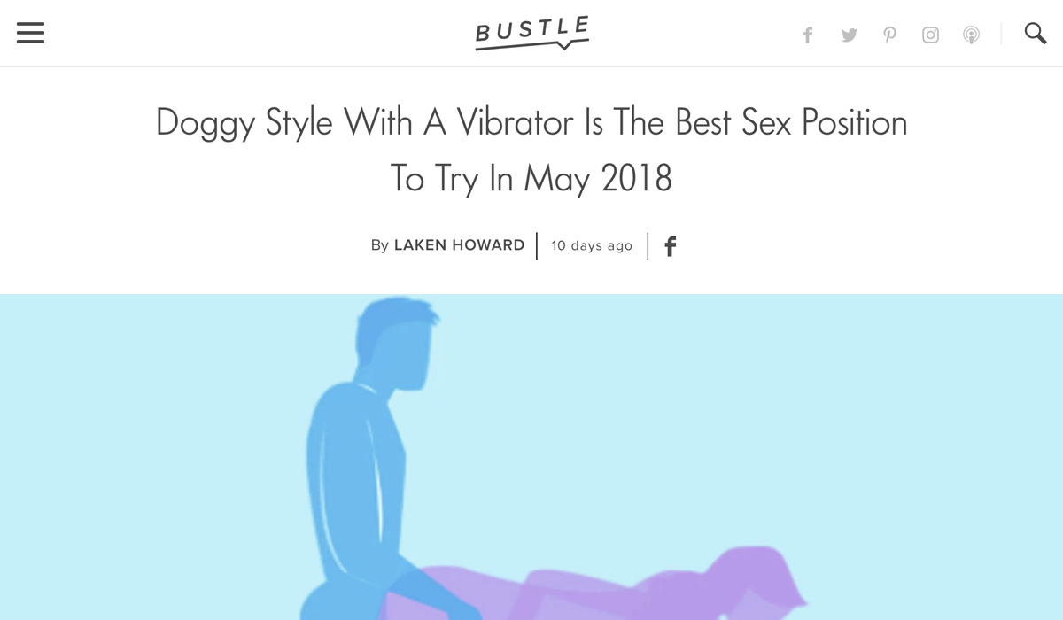 Alicia Sinclair shares with Bustle top tips of using a vibrator with in partnered sex.